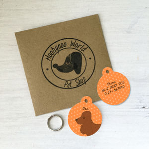 Cocker Spaniel Personalised Dog ID Tag - pet tags & charms