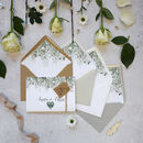 'Whimsical Windsor' Concertina Fold Wedding Invitation