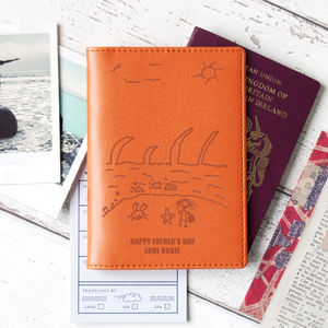 Passport Cover Personalised With Child's Drawing