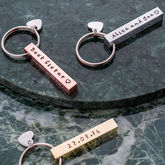 Personalised Square Bar Keyring - corporate gifts