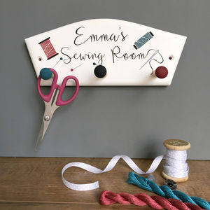 Personalised Sewing Room Storage Hook
