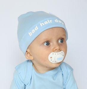 Bad Hair Day Cute Blue Baby Hat