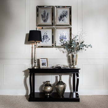 Stanley Long Black Console Table
