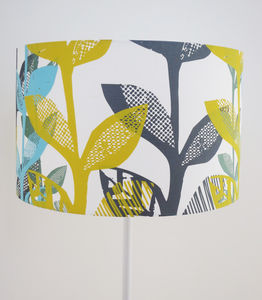 Floral Big Leaf Lampshade - dining room