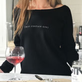 'May Contain Gin' Ladies Favourite Jumper - food & drink