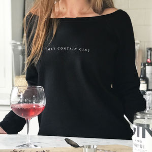 'May Contain Gin' Ladies Favourite Jumper