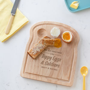 Personalised Dippy Eggs And Soldiers Egg Board