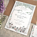 Sweet Summer Days Wedding Invitation Set