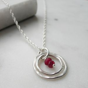 Ruby Rings Necklace - necklaces & pendants