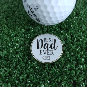 Personalised 'Best Dad Ever' Golf Ball Marker