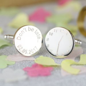 Personalised Wedding Cufflinks With Sayings - cufflinks