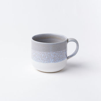 Handthrown White And Grey Mug