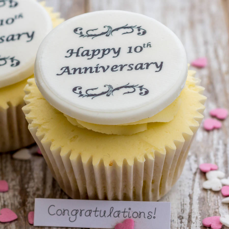 anniversary cupcake decorations by just bake | notonthehighstreet.com