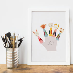 Finger Puppets Art Print - pictures & prints for children