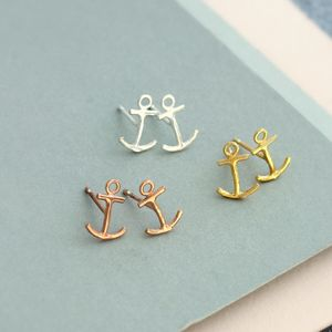Anchor Stud Earrings - nautical necessities