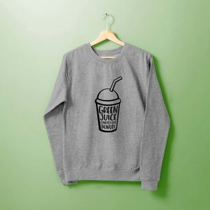 'Green Juice Cancels Out Donuts' Ladies Sweater
