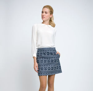 Molly Embroidered Mini Skirt - women's fashion