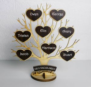 Personalised Wooden Engraved 'Tree Of Life'