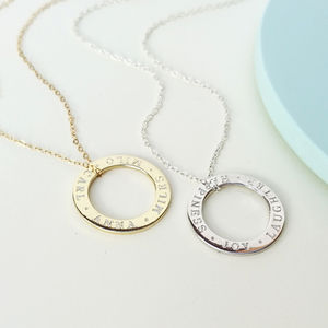 Personalised Circle Message Necklace - necklaces & pendants