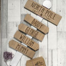 Personalised Family North Pole Christmas Sign