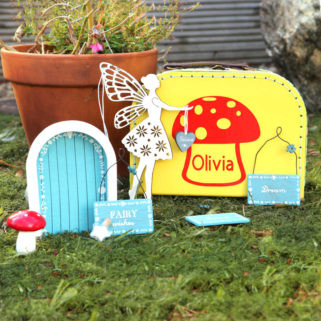 Personalised Create Your Own Fairy Garden Suitcase