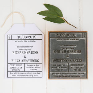 Wedding Invitation Ticket Stamp