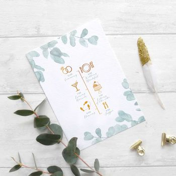 Eucalyptus Order Of The Day Card