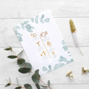 Eucalyptus Order Of The Day Card - spring styling