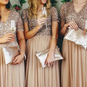Bridesmaids Leather Clutch Bag Set Of Four - bridesmaid accessories
