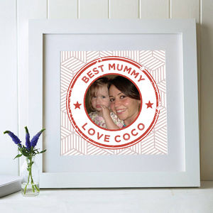Personalised Mother's Day Postage Stamp Gift Print - photography & portraits