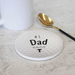 Personalised Ceramic Golf Ball Coaster