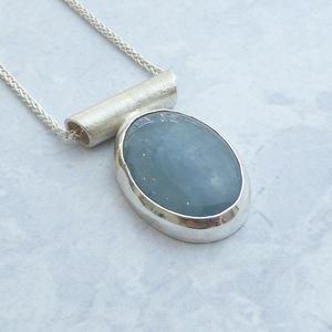 Aquamarine Pendant In Silver - necklaces & pendants
