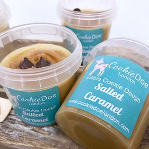 Salted Caramel Cookie Dough Four Single Serving Tubs - biscuits and cookies