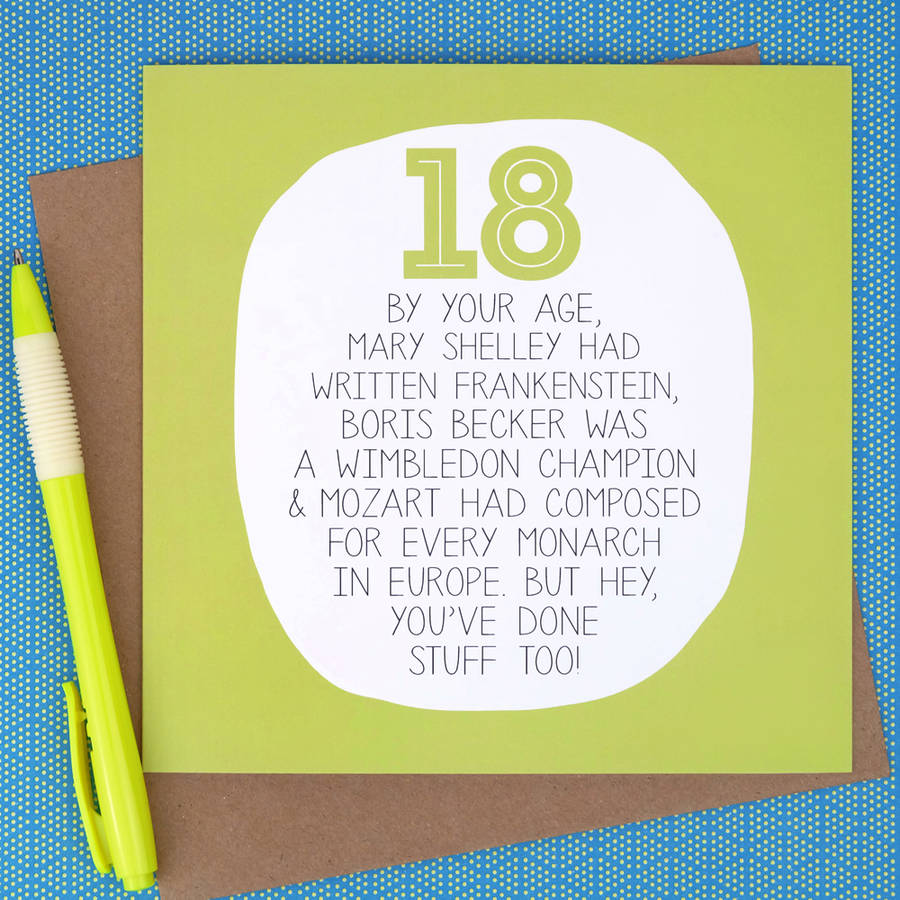 by your age… funny 18th birthday card by paper plane ...