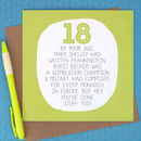 By Your Age… Funny 18th Birthday Card