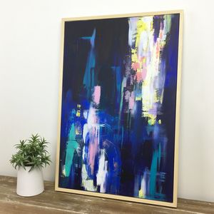'Stella' Contemporary Handpainted Abstract Canvas - paintings