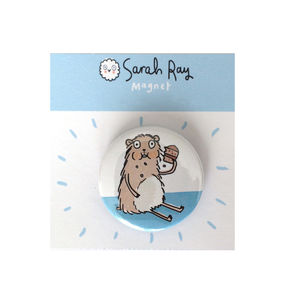 'Hungry Hamster' Magnet Or Pin Badge