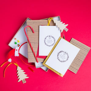 Christmas Themed Stationery Gift Set - writing