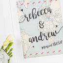 Personalised Wedding Print Travel Map