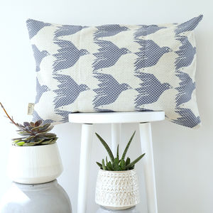 House Of Rym Bird Pattern Woven Jacquard Cushion Cover