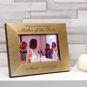 Mother of the bride gifts wedding gifts for parents personalised mother of the bride or groom photo frame junglespirit Images