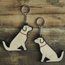 Golden Retriever Key Ring