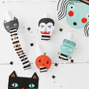 Halloween Spooky Faces Party Blowers - party decorations