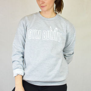 'Gym Bunny' Ladies Jumper Sweatshirt - women's fashion
