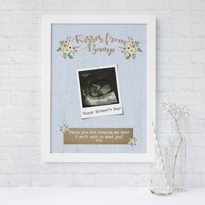 'Kisses From Bump' Baby Scan Print