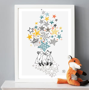 Fox Loving Giclee Print