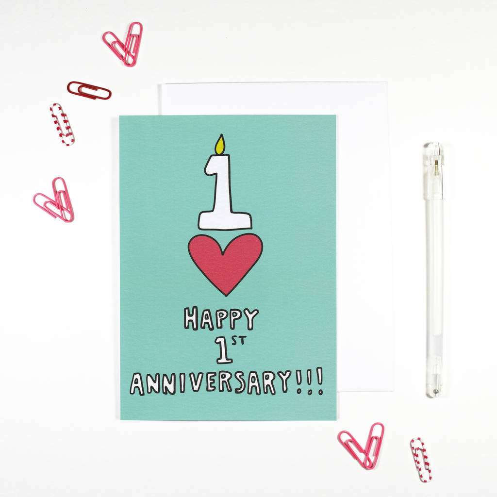 happy 1st anniversary card by angela chick ...