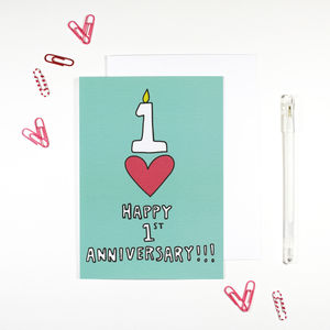 Happy 1st Anniversary A6 Card - wedding, engagement & anniversary cards