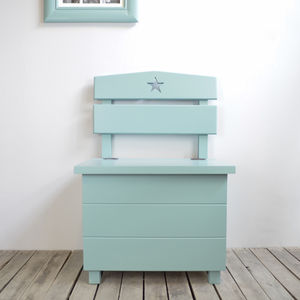 Child's Star Storage Bench Choice Of Colours And Sizes - children's room