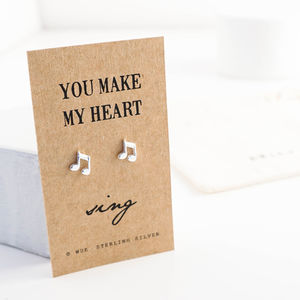 Make My Heart Sing Silver Earrings